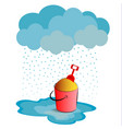 rainy weather on white background vector image