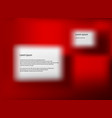 red board for typing content in christmas vector image vector image