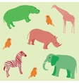 Seamless african animals pattern vector | Price: 1 Credit (USD $1)