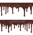 seamless border dripping melted chocolate vector image
