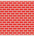 seamless red brick wall white bead vector image