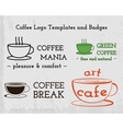 Set of Coffee cafe icons logo and business cards vector image vector image