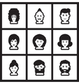 Set of flat icon in black and white style vector image vector image