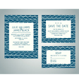 Set of wedding invitation cards with abstract