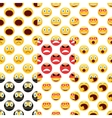 Smiley pattern set vector image