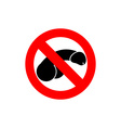 Stop penis Prohibited male member Frozen nudist vector image vector image