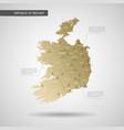 stylized republic ireland map vector image vector image