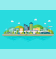 sustainable eco friendly cityscape with vector image