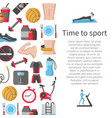 time to sport flat banner vector image
