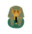 tutankhamun burial mask pharaoh ancient egypt vector image vector image