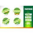 Vegetarian Badge vector image vector image