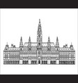 vienna city famous landmark city hall palace vector image vector image
