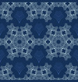 white on blue snowflake texture seamless vector image vector image