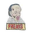 zombie freaks cobwebs drawing vector image vector image