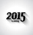 Modern Flat Style 2015 New Year vector image