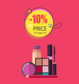10 off price make up poster vector image