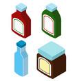 3d design for different bottles vector image vector image