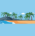 a nature panorama landscape vector image vector image