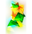 Abstract 3d triangular background vector image vector image