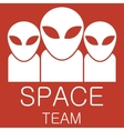 alien team on red background vector image vector image