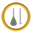 Aluminium folding paddle icon vector image