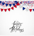 australia national day flags blue red white vector image vector image