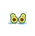 avocado fruit logo mbe style vector image vector image