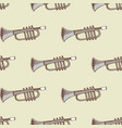 background with musical instrument trumpet vector image vector image