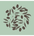 Background with Olive branch vector image