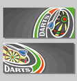 banners for darts vector image vector image