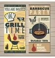 BBQ Time Invite Flyer vector image vector image