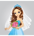 Beautiful Brunette Bride Princess vector image