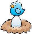 bird egg vector image