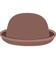 Brown hat vector image vector image
