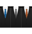 business card tuxedo tie or necktie set vector image vector image