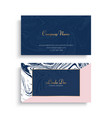 business card with marble texture vector image vector image