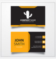 cactus icon business card template vector image vector image