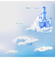castle in the clouds Dream sky palace vector image