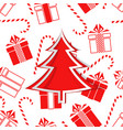 christmas tree and gifts new year vector image vector image