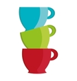 colorful cups set graphic vector image vector image