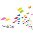 Colorful mosaic design vector image vector image