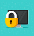 computer security isolated vector image vector image