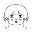 cute japanese girl cartoon vector image
