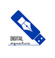 digital electronic signature concept vector image