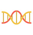 dna structure icon flat style vector image vector image