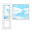 door and window on a white background vector image vector image