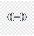 dumbell concept linear icon isolated on vector image