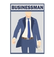 Elegant businessman in suit isolated on white vector image vector image