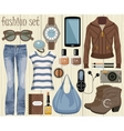 Fashion set in a style flat design vector image vector image