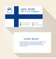 finland flag color business card design eps10 vector image vector image